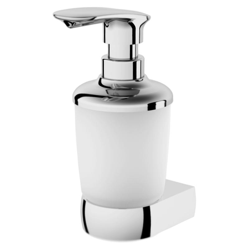 Sensation A3036900 хром/матовое стеклоАксессуары для ванной<br>Дозатор жидкого мыла с настенным держателем АМ РМ Sensation A3036900.<br><br>Материал: латунь/матовое стекло.<br>Покрытие: хром.<br>Высота: 185 мм.<br><br>