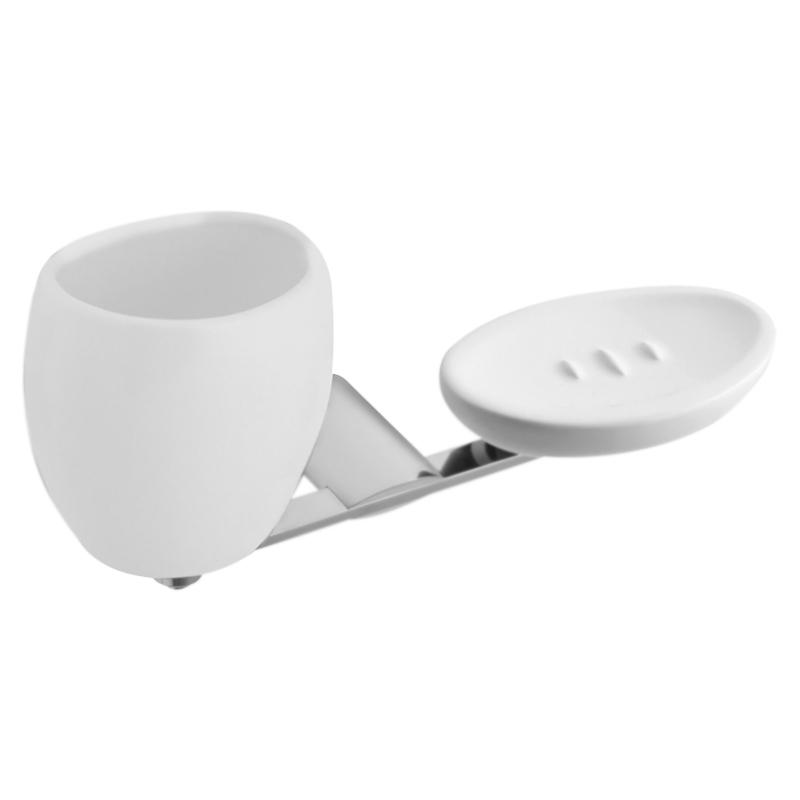 Aria AI501101 с мыльницей Хром/белыйАксессуары для ванной<br>Стакан для зубных щеток Webert Aria AI501101015 с мыльницей в ванную комнату. Изделие оснащено настенным держателем.<br><br>Материал: высококачественная латунь/керамика.<br>Покрытие: глянцевый хром. <br>Высота стакана: 12,5 см.<br><br>