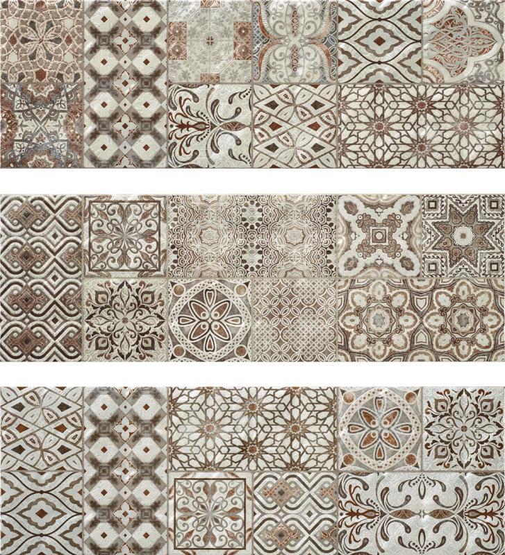 Керамическая плитка Rocersa Stucco-15 Dec-1 Grey (3 вида) настенная 25х75 стоимость