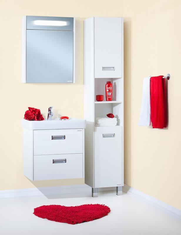 Палермо 60 подвесная БелаяМебель для ванной<br> Тумба под раковину Бриклаер Палермо 60 УТ-00006190. <br> Габариты тумбы: 60 x 60 x 49,5 см. <br> Дизайн: олицетворение простоты и свежести.  <br>Технические характеристики:  <br> прямоугольная, подвесная,<br>материал корпуса и фасада: ЛДСП лак, высокий глянец<br>покрытие:  лак/глянец,<br> 2 выдвижных ящика , <br> задняя стенка отсутствует для подводки труб, <br> отверстия в задней планке для крепления к стене, <br> фурнитура: 2 металлические ручки, направляющие с доводчиками,<br> бельевая корзина: нет, <br>цвет: белый глянец.<br>Раковина, зеркало и пенал приобретаются отдельно. <br>