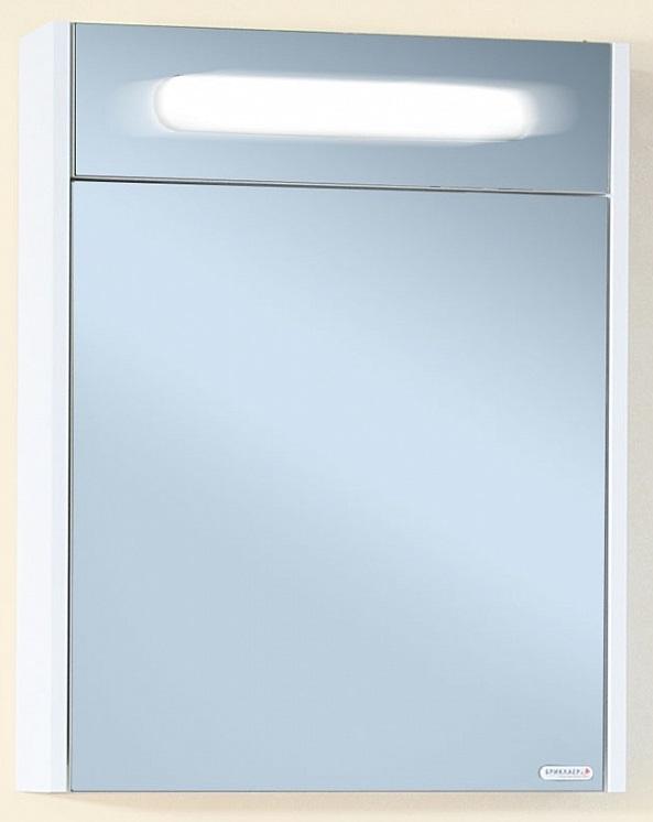 Палермо 55 с подсветкой корпус Белый глянецМебель для ванной<br> Зеркальный шкаф Бриклаер Палермо 55 УТ-00005915. <br> Габариты зеркала: 55 x 70 x 16 см. <br> Дизайн: олицетворение простоты и свежести.  <br>Технические характеристики:  <br> форма: прямоугольное,<br>материал корпуса и фасада: ЛДСП лак, высокий глянец<br>покрытие:  лак/глянец,<br>цвет: фасад - белый глянец, корпус - белый глянец.<br>зеркало: серебро с амальгамой, <br> фурнитура: петли с доводчиками, навески для крепления к стене,<br> внутри: полочки для хранения, установлен люминисцентный светильник 6 Вт, <br>