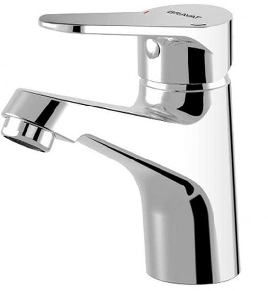 Eco F193147C ХромСмесители<br>Смеситель для раковины Bravat Eco F193147C.<br>Дизайн: современный стиль. <br>Монтажа: на раковину. <br>Материал : латунь. <br>Длина излива : 10,9 см. <br>Высота излива : 8,4 см. <br> Стандарт подводки: 1/2.<br>Расход воды: 8,3 л/мин.<br> Вращение излива: фиксированный. <br> В наборе комплекта:  <br>смеситель, <br>керамический картридж,<br>аэратор,<br>цвет изделия хром. <br>