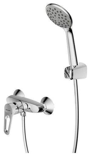 Eco-D F9111158C-01 ХромСмесители<br>Смеситель для душа Bravat Eco-D F9111158C-01.<br>Дизайн: современный стиль. <br>Способ монтажа: вертикальный. <br>Материал : латунь. <br>Расход воды: 12 л/мин.<br> В наборе комплекта:  <br>смеситель, <br>керамический картридж,<br>монтажный набор,<br>лейка,<br>держатель для душевой лейки ,<br>цвет изделия хром. <br>