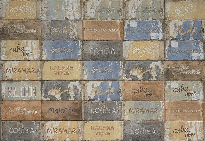 Керамическая плитка Cir Havana Cuba Libre Mix настенная 10х20