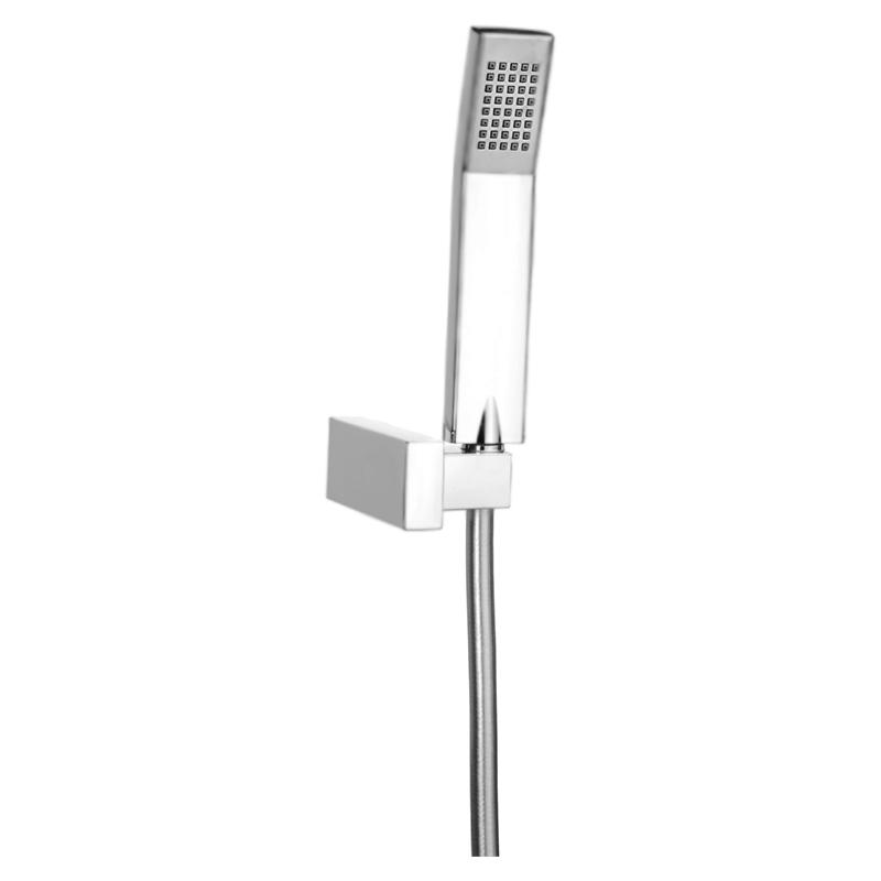 Comfort AC0114 Хром/серыйДушевые гарнитуры<br>Душевой гарнитур Webert Comfort AC0114015.<br><br>Покрытие лейки и держателя: глянцевый хром.<br>Цвет шланга: серый.<br>Однорежимный ручной душ из PVC.<br>Лейка с силиконовой системой Антикальций.<br>Настенный поворотный держатель лейки.<br>Гибкий душевой шланг из PVC.<br><br>