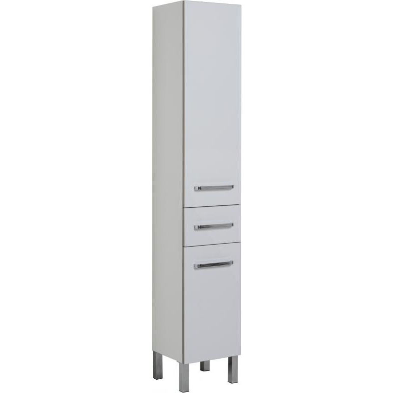 Сиена 40 Правый белыйМебель для ванной<br> Пенал Aquanet Сиена 35 . <br> Габариты пенала: 400x1600x390 <br> Современный дизайн.  <br>Оборудован 2 дверцами и 1 шкафчиком<br>Пенал исполнен в белом цвете<br>