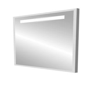 Модерн 80 СероеМебель для ванной<br>Зеркало в плоской раме. Оборудовано встроенным светильником.<br>