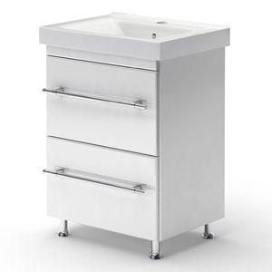 Модерн 60 БелаяМебель для ванной<br>Тумба Руно Модерн. Имеет : 2 ящика с технологией плавного открывания Blum. Раковина Дрея приобретается отдельно.<br>