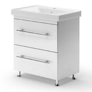 Модерн 80 БелаяМебель для ванной<br>Тумба Руно Модерн. Имеет : 2 ящика с технологией плавного открывания Blum. Раковина Дрея приобретается отдельно.<br>
