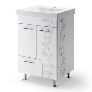 Эстепона Лайт 60 БелаяМебель для ванной<br>Тумба Руно Эстепона Лайт. Имеет : две дверцы, один ящик. Раковина Дрея приобретается отдельно.<br>
