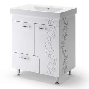 Эстепона Лайт 70 БелаяМебель для ванной<br>Тумба Руно Эстепона Лайт. Имеет : две дверцы, один ящик. Раковина Дрея приобретается отдельно.<br>