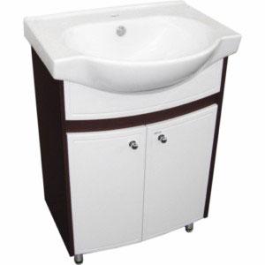 Аликанте 60 Венге-белыйМебель для ванной<br>Тумба Руно Аликанте с 2-мя дверцами. Раковина Байкал приобретается отдельно.<br>