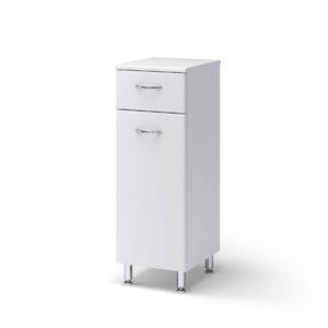 Универсал 40 БелыйМебель для ванной<br>Полу-пенал Руно Универсальный. Имеет выдвижной ящик, закрытое отделение с одной дверцей. Возможно исполнение как с правой, так и с левой стороны.<br>