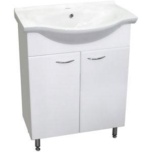 Байкал 60 БелаяМебель для ванной<br>Тумба Руно Байкал. Раковина Байкал приобретается отдельно.<br>
