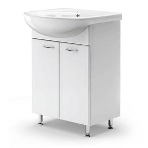 Виктория 55 БелаяМебель для ванной<br>Цена указана только за тумбу. Раковина Антик приобретается отдельно.<br>