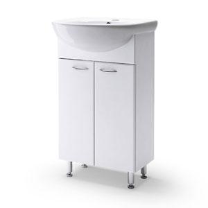 Уют 45 БелаяМебель для ванной<br>Тумба Руно Уют. Цена указана за тумбу. Раковина Уют приобретается отдельно.<br>