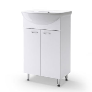 Уют 55 БелаяМебель для ванной<br>Тумба Руно Уют. Цена указана за тумбу. Раковина Уют приобретается отдельно.<br>