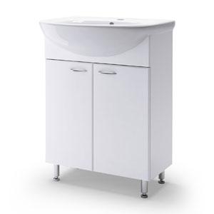 Уют 60 БелаяМебель для ванной<br>Тумба Руно Уют. Цена указана за тумбу. Раковина Уют приобретается отдельно.<br>
