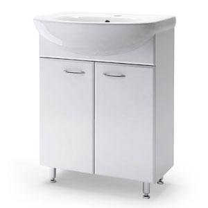 Юлия 65 БелаяМебель для ванной<br>Тумба Руно Юлия. Цена указана за тумбу. Раковина Стелла приобретается отдельно.<br>