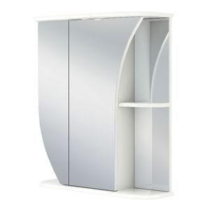 Белла 65 БелыйМебель для ванной<br>Зеркальный шкаф Руно Белла имеет два закрытых отделения с двумя дверцами, внешние полки. Возможно исполнение как с правой, так и с левой стороны.<br>