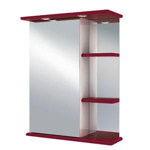 Магнолия 60 БежевыйМебель для ванной<br>Зеркальный шкаф Руно Магнолия. Имеет закрытое отделение с одной дверцей (слева), сбоку три внешние полки, прямые линии. Шкаф оборудован трансформатором мощностью 60 Вт для подключения галогенных светильников со скрытым подключением электропровода, выключателем и розеткой.<br>