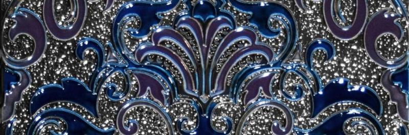 Керамический декор Absolut Keramika Damasco/Tripoli Decor Damasco Cobalto 10х30 см стоимость