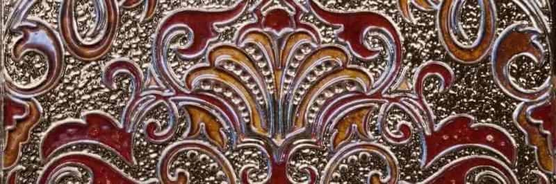 Керамический декор Absolut Keramika Damasco/Tripoli Decor Damasco Granate 10х30 см керамическая плитка absolut keramika damasco tripoli milano brillo granate настенная 10х30