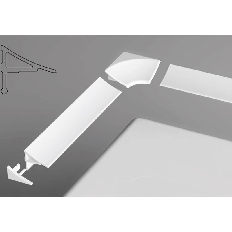 11 1100 XB461100001 БелаяКомплектующие<br>Декоративная планка Ravak 11 1100 XB461100001 типа 11, белого цвета, для герметизации и устранения зазоров.<br><br>Длина: 1100 мм.<br>Ширина: 18 мм.<br>Простая чистка труднодоступных мест.<br>Хорошее прилегание поддона или ванны к поверхности стен.<br><br>
