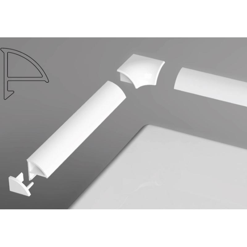6 B440000001 БелыйКомплектующие<br>Набор заглушек и уголков Ravak 6 B440000001. В комплекте 2 заглушки и 2 уголка.<br>