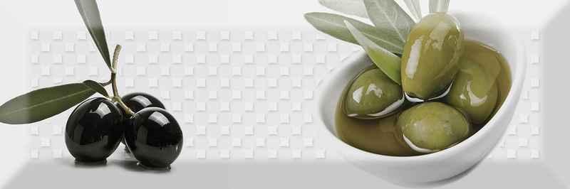 Керамический декор Absolut Keramika Olives Fluor Decor Olives 02 Fluor 10х30 см стоимость