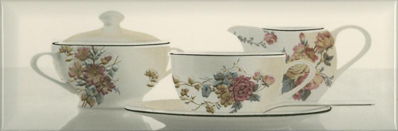 Керамический декор Absolut Keramika Tea 03 Decor Cream A 10х30 см декор absolute keramika gold crema 03 decor 15x45