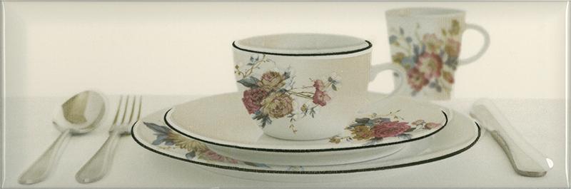 Керамический декор Absolut Keramika Tea 03 Decor Cream В 10х30 см