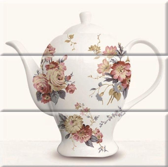Керамическое панно Absolut Keramika Tea 03 Composicion White 30х30 см стоимость