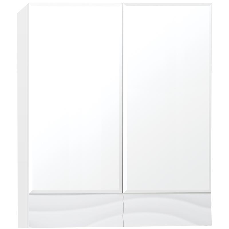 Зеркальный шкаф Style Line Вероника 60 Люкс Белый глянец фото