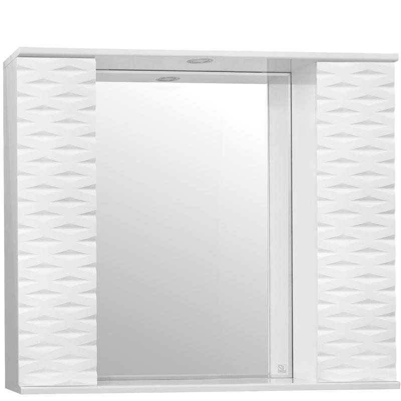 Зеркальный шкаф Style Line Папирус 90 С с подсветкой - фото