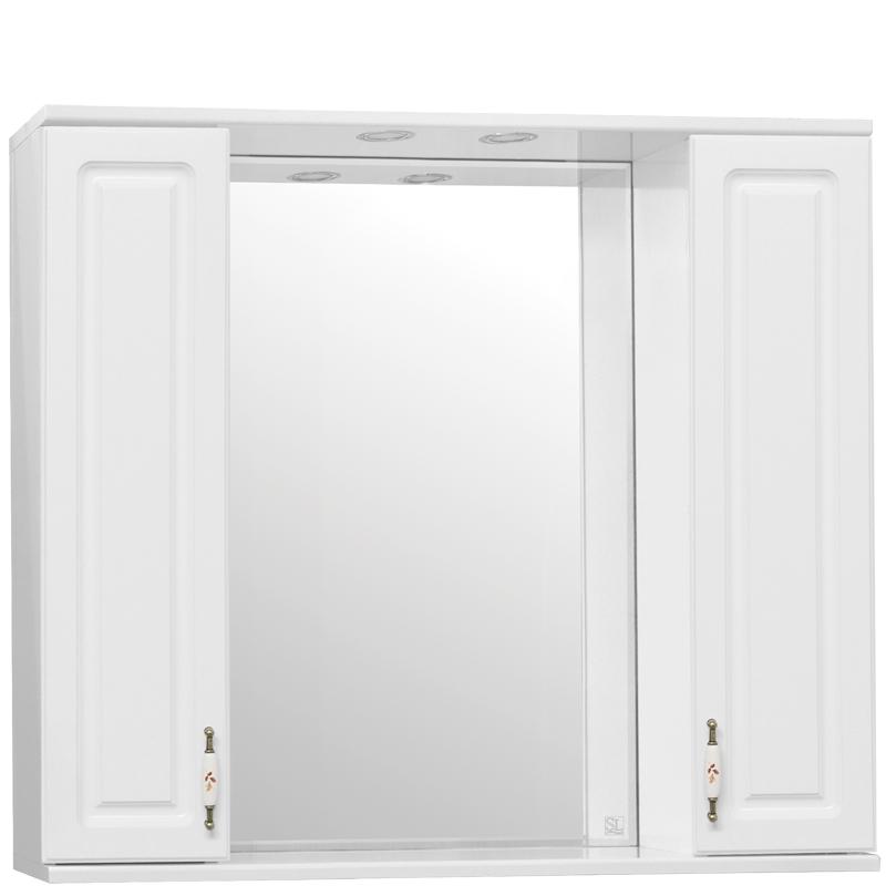 Зеркальный шкаф Style Line Олеандр 2 90 С с подсветкой - фото