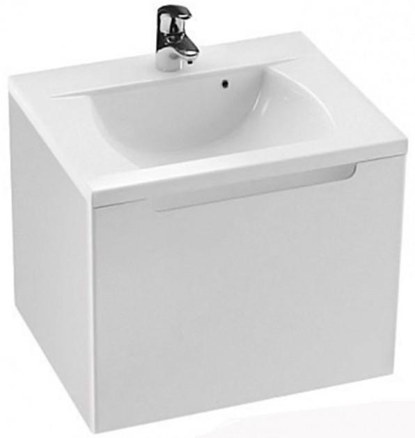 Classic 60 в комплекте со смесителем CL 012 БелаяМебель для ванной<br> Тумба с раковиной Ravak Classic 60 в комплекте со смесителем CL 012.<br>В комплекте: <br><br>тумба под раковину X000000347<br>раковина XJD01160000,<br>смеситель X070080 однорычажный. <br><br> Технические характеристики:<br> Габариты тумбы: 60 x 49 x 47 см,<br>форма: прямоугольная,<br>материал корпуса: ДСП,<br>покрытие корпуса: глянец/ламинат,<br>материал фасада: МДФ, <br>покрытие фасада: глянцевое/пленка, <br>монтаж: подвесная, <br>цвет: фасада и корпуса – белый глянец,<br> система хранения: с ящиком,<br>материал раковины: литой мрамор,<br>форма раковины: прямоугольная,<br> смеситель: однорычажный, <br> материал: латунь, <br> оснащение: крепление, аэратор, гибкая подводка. <br> Ровные грани поверхности подчеркнуты аккуратно вырезанной овальной ручкой в стиле дружеского минимализма. Раковина с округлыми линиями внутреннего моющего пространства выполнена в простом и красивом дизайнерском решении.<br>Простой уход осуществляется благодаря форме изделий, материалом отделки и подвесным тумбам.<br>Специальная влагостойкая пропитка ДСП и МДФ обеспечивает долгий срок службы мебели.<br>Мебель поставляется в собранном виде.<br>