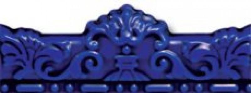 лучшая цена Керамическая плитка Cas Ceramica Cas Mold Real Azul бордюр 7х20