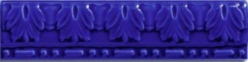 Керамическая плитка Cas Ceramica Cas Moldura Relieve Azul бордюр - фото