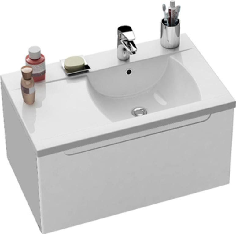 Classic 80 в комплекте со смесителем CL 012 L БелаяМебель для ванной<br> Тумба с раковиной Ravak Classic 80 L в комплекте со смесителем CL 012.<br>В комплекте:<br><br>тумба под раковину X000000350<br>раковина XJDL1180000,<br>смеситель X070080 однорычажный. <br><br>Технические характеристики:<br> Габариты тумбы: 80 x 49 x 47 см,<br>форма: прямоугольная,<br>материал корпуса: ДСП,<br>покрытие корпуса: глянец/ламинат,<br>материал фасада: МДФ, <br>покрытие фасада: глянцевое/пленка, <br>монтаж: подвесная, <br>цвет: фасада и корпуса – белый глянец,<br> система хранения: с ящиком,<br>материал раковины: искусственный мрамор,<br>форма раковины: прямоугольная,<br> смеситель: однорычажный, <br> материал: латунь, <br> оснащение: крепление, аэратор, гибкая подводка. <br> Ровные грани поверхности подчеркнуты аккуратно вырезанной овальной ручкой в стиле дружеского минимализма. Раковина с округлыми линиями внутреннего моющего пространства выполнена в простом и красивом дизайнерском решении. <br>Простой уход осуществляется благодаря форме изделий, материалом отделки и подвесным тумбам.<br>Специальная влагостойкая пропитка ДСП и МДФ обеспечивает долгий срок службы мебели.<br>Мебель поставляется в собранном виде.<br>