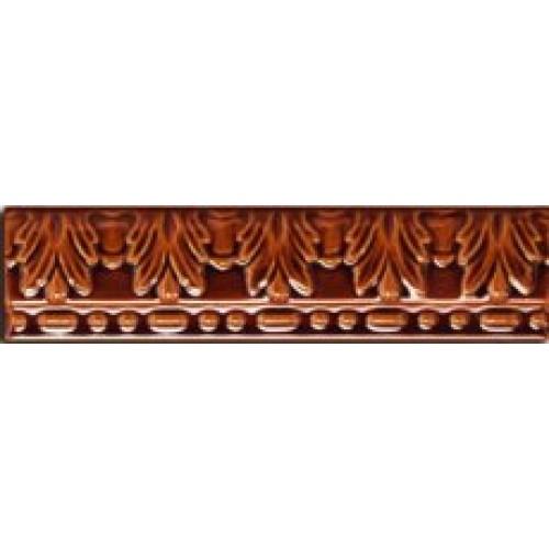 Керамическая плитка Cas Ceramica Moldura Relieve Marron бордюр 5х20