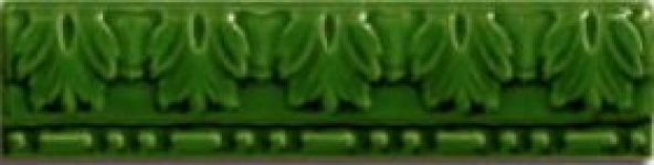 Керамическая плитка Cas Ceramica Cas Moldura Relieve Verde бордюр 5х20 цена