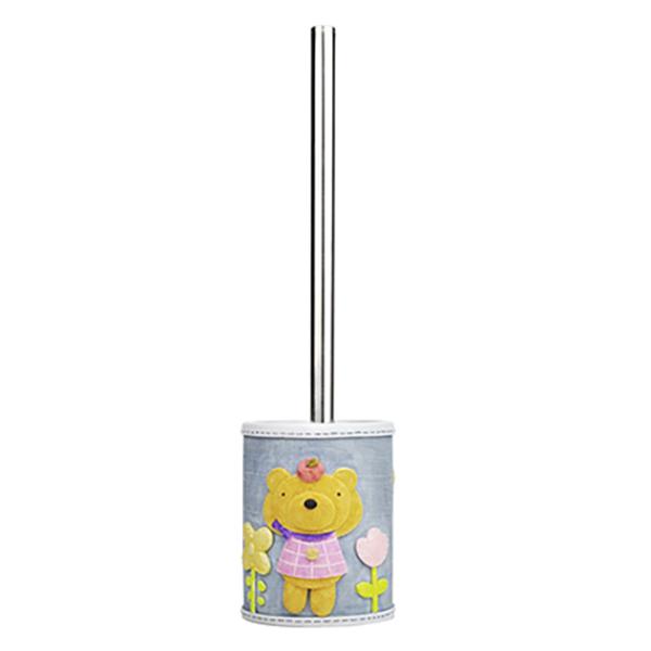Lossa K-3427 СинийАксессуары для ванной<br>Ершик для унитаза WasserKRAFT Lossa K-3427 выполнен из полирезина, чаша для ершика украшена медвежонком. Такой ершик станет милым украшением ванной или туалетной комнаты.<br>Размер: высота изделия: 34,7 см, длина чаши: 9,8 см, ширина: 10,4 см.<br>Материал: чаша выполнена из полирезина (полистоуна) - это прочный и водонепроницаемый материал, предназначенный для использования в помещениях с повышенной влажностью и резкими перепадами температур. Ручка ершика сделана из металла с хромоникелевым покрытием.<br>Изделие отшлифовано и окрашено вручную.<br>