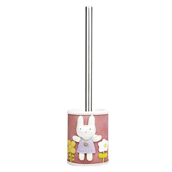 Ammer K-6427 КрасныйАксессуары для ванной<br>Ершик для унитаза Wasser Kraft Ammer K-6427 может стать милым украшением ванной или туалетной комнаты. Изделие выполнено из полирезина, чаша для ершика украшена зайчонком и цветами.<br>Размер: высота изделия: 34,7 см, длина чаши: 9,8 см, ширина: 10,4 см.<br>Материал: чаша выполнена из полирезина (полистоуна) - это прочный и водонепроницаемый материал, предназначенный для использования в помещениях с повышенной влажностью и резкими перепадами температур. Ручка ершика сделана из металла с хромоникелевым покрытием.<br>Изделие отшлифовано и окрашено вручную.<br>