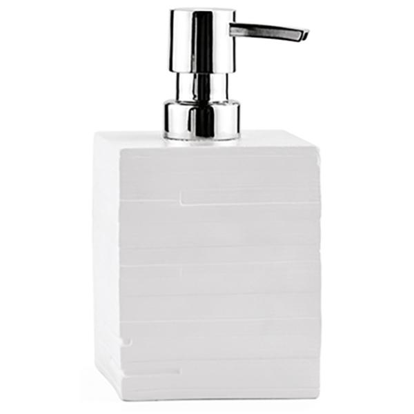 Leine K-3899 БелыйАксессуары для ванной<br>Выполненный в стиле минимализма дозатор для жидкого мыла WasserKRAFT Leine K-3899 - это белоснежная свежесть в строгих формах. Здесь соединяются четкость линий и асимметричные элементы. Белый цвет подчеркивает простоту и изысканность изделия. <br>Размер: высота: 15,1 см, длина: 8,2 см, ширина: 8,2 см. <br>Материал: полирезин (полистоун) - это высококачественный минерально-полимерный материал, прочный и водонепроницаемый. Изделия из полирезина предназначены для помещений с высокой влажностью и резкими перепадами температур. Носик дозатора выполнен из сплава металлов.<br>Объем: 460 мл. <br>Изделие отшлифовано и окрашено вручную.<br>