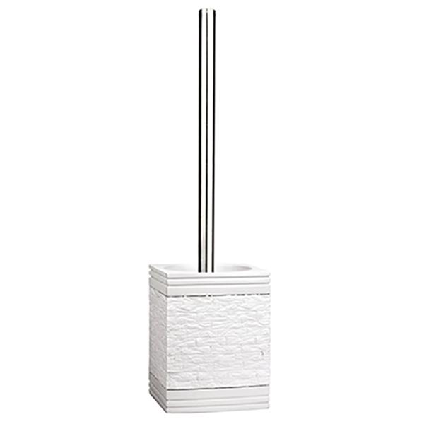 Main K-4727 БелыйАксессуары для ванной<br>Ершик для унитаза Wasser Kraft Main K-4728 выполнен в урбанистическом стиле. Фактура, имитирующая кирпичную вкладку, идеально сочетается с глянцевой и гладкой поверхностью. Изделие отлично подойдет тем, кто предпочитает смелые решения в интерьере. <br>Размер: высота: 37 см, длина: 9,3 см, ширина: 9,3 см. <br>Материал: полирезин (полистоун) - это высококачественный минерально-полимерный материал, прочный и водонепроницаемый. Изделия из полирезина предназначены для помещений с высокой влажностью и резкими перепадами температур. <br>Изделие отшлифовано и окрашено вручную.<br>