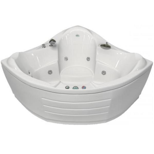 Гранд Люкс 144x144 с гидромассажемВанны<br>Акриловая ванна Bellrado Гранд-люкс 143,5х143,5х80,5 см в форме четверти круга, армированная.<br>Ванна изготовлена из литьевого акрила, литой лист толщиной 5 мм, и усилена стекловолокном с полиэфирными смолами. Толщина стенок – 6-7 мм. Усиливающие дно и места крепления корпуса элементы, толщина – 22-24 мм. Лицевой слой – акрил ПММА, устойчив к царапинам, УФ лучам, коррозийному и химическому воздействию, долго сохраняет блеск.<br>Цвет чаши ванны: чистый холодный белый. <br>Ванна Гранд-люкс прекрасно подойдет для небольшой ванной комнаты.В данную комплектацию входит 6 гидромассажных джет. Расположение форсунок выверено с анатомической точки зрения. Джеты регулируются по направлению и силе массажной струи, а также по количеству воздуха (чем больше воздуха в струе, тем она шире и мощнее). Таким образом, гидромассаж можно настроить индивидуально. Благодаря креплению двигателя к подставке ванны с помощью амортизаторов, снижающих шум и вибрацию, гидромассаж работает практически беззвучно.<br>В комплекте поставки:<br>акриловая чаша ванны<br>стальной каркас – надежная конструкция, профиль 25х25, толщина 1,5 см, порошковое напыление, не поддается коррозии<br>слив-перелив Vega полуавтомат6 гидромассажных джет Sirem (Франция) с мощностью 900 Вт.<br>6 микроджет для спинного массажа (система Турбопул)<br>Уход: с использованием безабразивных мягких средств. <br>Данная ванна реставрируема (из ремонтнопригодного материала).<br>