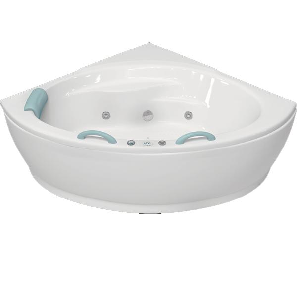 Лагуна 143x143 с гидромассажемВанны<br>Акриловая ванна Bellrado Лагуна 143х143х64 см в форме четверти круга, армированная.<br>Ванна изготовлена из литьевого акрила, литой лист толщиной 5 мм, и усилена стекловолокном с полиэфирными смолами. Толщина стенок – 6-7 мм. Усиливающие дно и места крепления корпуса элементы, толщина – 22-24 мм. Лицевой слой – акрил ПММА, устойчив к царапинам, УФ лучам, коррозийному и химическому воздействию, долго сохраняет блеск.<br>Ванна Лагуна прекрасно подойдет для ванной комнаты стандартного размера.В данную комплектацию входит 6 гидромассажных джет. Расположение форсунок выверено с анатомической точки зрения. Джеты регулируются по направлению и силе массажной струи, а также по количеству воздуха (чем больше воздуха в струе, тем она шире и мощнее). Таким образом, гидромассаж можно настроить индивидуально. Благодаря креплению двигателя к подставке ванны с помощью амортизаторов, снижающих шум и вибрацию, гидромассаж работает практически беззвучно.<br>В комплекте поставки:<br>акриловая чаша ванны<br>стальной каркас – надежная конструкция, профиль 25х25, толщина 1,5 см, порошковое напыление, не поддается коррозии<br>слив-перелив Vega полуавтомат<br>6 гидромассажных джет Sirem (Франция) с мощностью 900 Вт.<br>Уход: с использованием безабразивных мягких средств. <br>Данная ванна реставрируема (из ремонтнопригодного материала).<br>