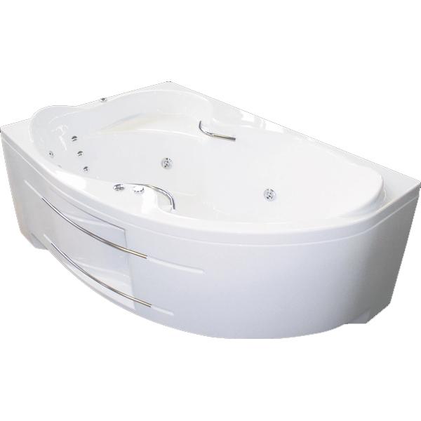 Индиго 169x110 Хром с гидромассажемВанны<br>Акриловая ванна Bellrado Индиго 169х110х71,5 см асимметричной формы, армированная, с фурнитурой цвета хром.<br>Ванна изготовлена из литьевого акрила, литой лист толщиной 5 мм, и усилена стекловолокном с полиэфирными смолами. Толщина стенок – 6-7 мм. Усиливающие дно и места крепления корпуса элементы, толщина – 22-24 мм. Лицевой слой – акрил ПММА, устойчив к царапинам, УФ лучам, коррозийному и химическому воздействию, долго сохраняет блеск.<br>Ванна Индиго прекрасно подойдет для ванной комнаты стандартного размера.В данную комплектацию входит 6 гидромассажных джет. Расположение форсунок выверено с анатомической точки зрения. Джеты регулируются по направлению и силе массажной струи, а также по количеству воздуха (чем больше воздуха в струе, тем она шире и мощнее). Таким образом, гидромассаж можно настроить индивидуально. Благодаря креплению двигателя к подставке ванны с помощью амортизаторов, снижающих шум и вибрацию, гидромассаж работает практически беззвучно.<br>В комплекте поставки:<br>акриловая чаша ванны<br>стальной каркас – надежная конструкция, профиль 25х25, толщина 1,5 см, порошковое напыление, не поддается коррозии<br>слив-перелив Vega полуавтомат2 ручки6 гидромассажных джет Sirem (Франция) с мощностью 900 Вт.<br>6 микроджет для спинного массажа (система Турбопул)<br>Уход: с использованием безабразивных мягких средств. <br>Данная ванна реставрируема (из ремонтнопригодного материала).<br>