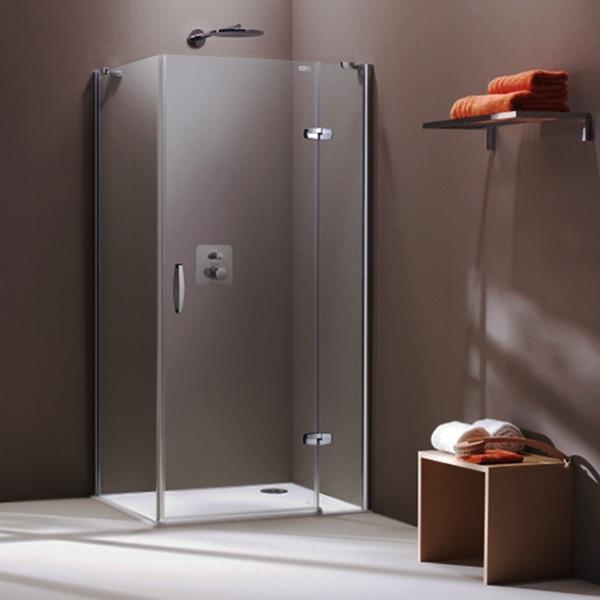 Дверь для душевого уголка Huppe Aura Elegance 80 400401.087.316 Профиль матовый хром, стекло матовое, правая